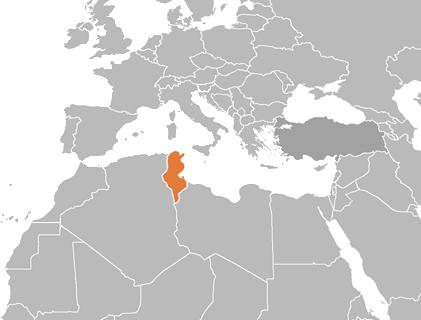 carte europe tunisie